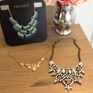 Assorted Forever 21 Statement Necklaces